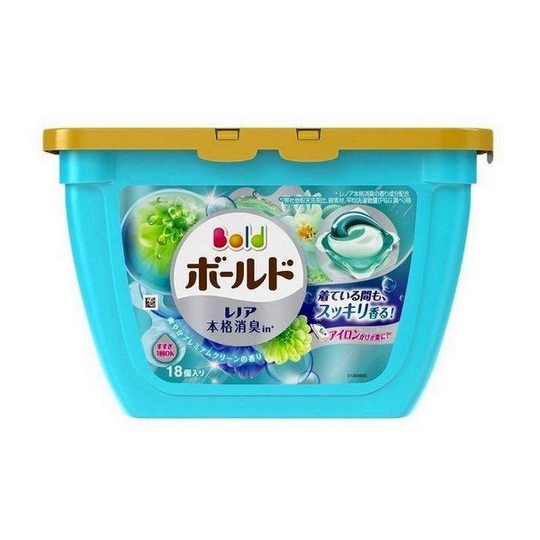 viên giặt xả màu xanh