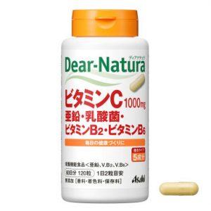 Viên uống bổ sung vitamin C, kẽm, lợi khuẩn và vitamin B tổng hợp Asahi 1