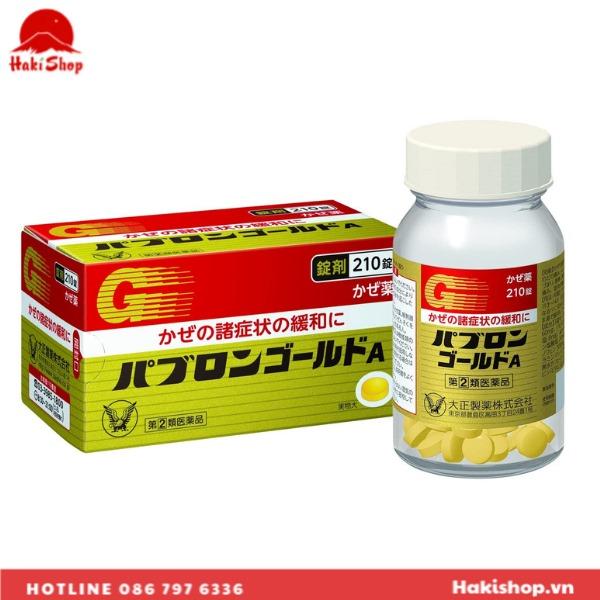 Viên uống trị cảm cúm Taisho Pabron Gold A (4)